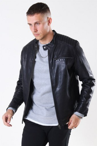 Fonda Leather Jacket Black