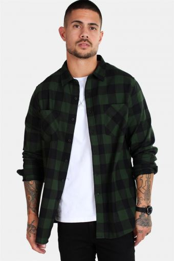 TB297 Checked Flanell Skjorta Black/Forest
