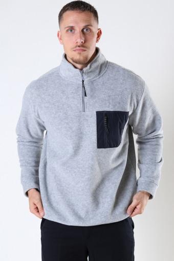 Frinck Half-Zip Fleece Grey Melange