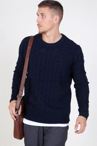 Pigalle Cable Sticka Dark Navy
