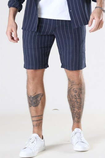 Giles Big Stripe Shorts Navy