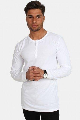 Placket LS T-shirt White
