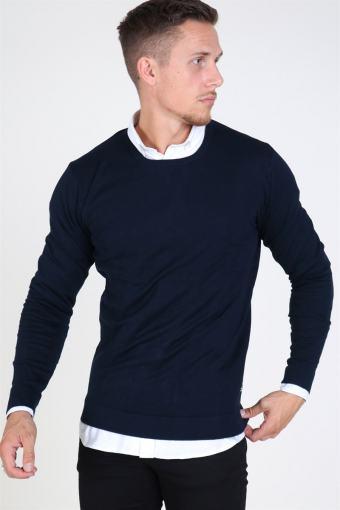 Tailored & Originals Mont O-neck Sticka Insignia Blue