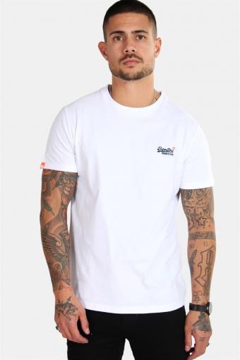 Orange Label Vintage Emb S/S T-shirt Optic White