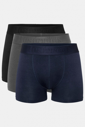Resteröds 3-Pack 7934 49 Boxershorts Black Navy Grey