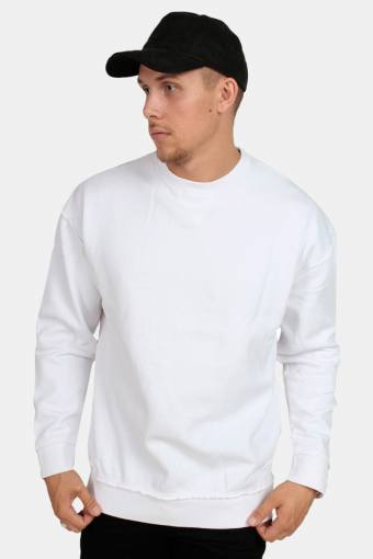 Klockaban Classics Oversized Open Edge Crew Sweat White