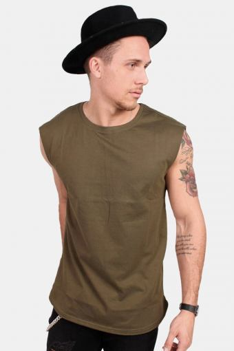Klockaban Classics TB1562 Open Edge Sleeveless T-shirt Olive