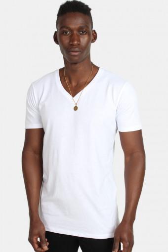 Klockaban Classics TB1559 Basic V-Neck T-shirt White