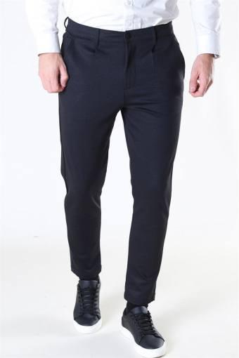 Club Oblique Striped Pants Black