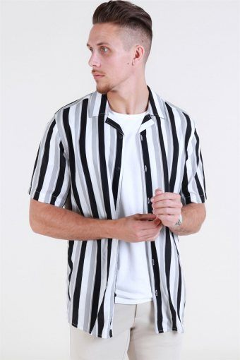 Wayne SS New Striped Skjorta Griffin