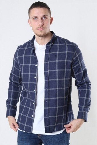 Clean Cut Sälen Flannel 1 Skjorta Navy