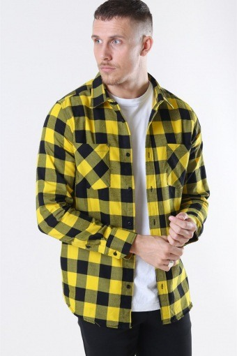 Klockaban Classics TB297 Checked Flanell Skjorte Black/Honey