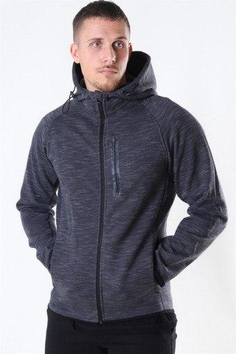 Sport Sweat Zip Hood Dark Grey Melange