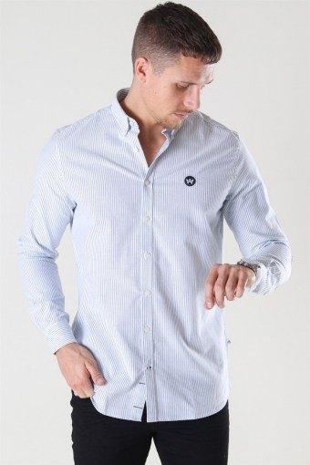 Johan Oxford Stripe Skjorta White / Light Blue