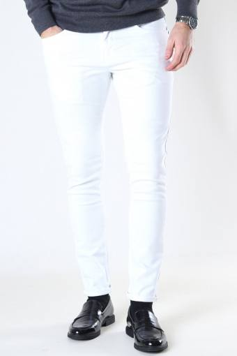 David Slim Stretch Jeans White Denim