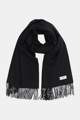 Solid Wool HalsScarf Black