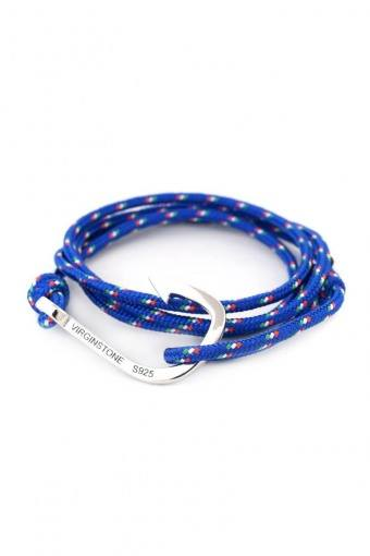 Hook Armband Blue/Red/White/Green/Silver