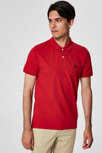Aro S/S Emroidery Polo Skjorta Noos Scarlet Sage