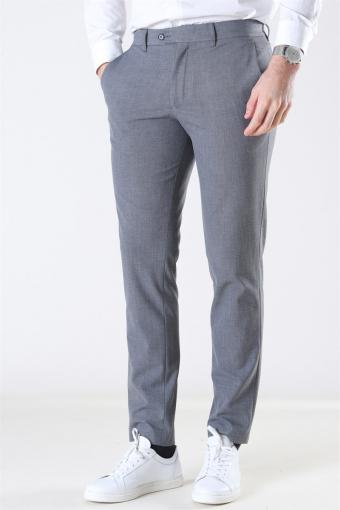 Slim-Carlo Flex StructKlockae Pants Grey Melange