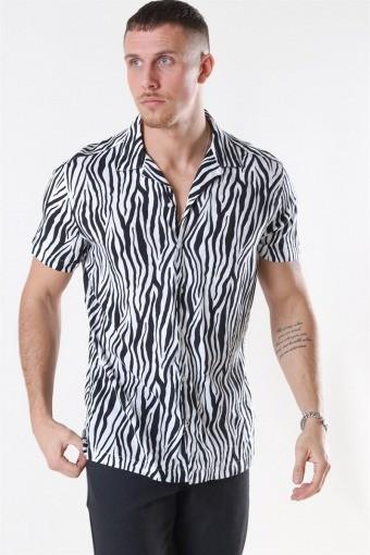 Animal Viskose Skjorta S/S White