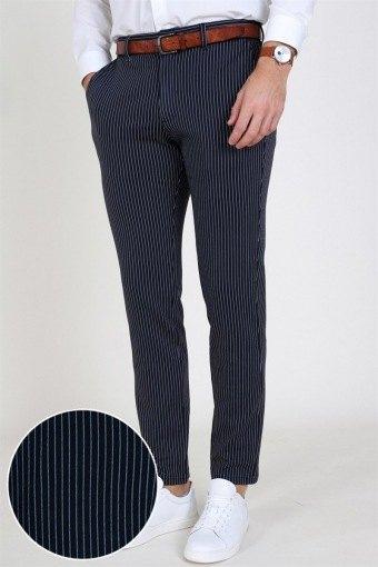 Marco Phil Jersey Pants Dark Navy Pin