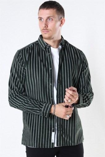 Edward Striped CordKlockaoy Skjorte Deep Depths
