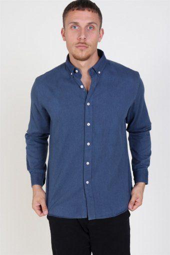 Sälen Flannel Skjorta Denim Blue