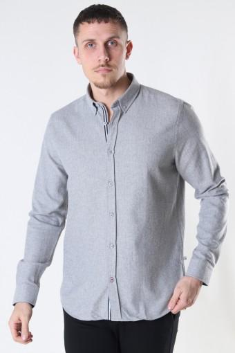 Johan HerRingabone flannel shirt Sand