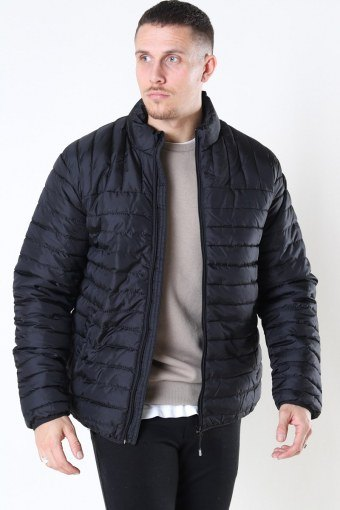 Paul Quilted Highneck Jacka Black