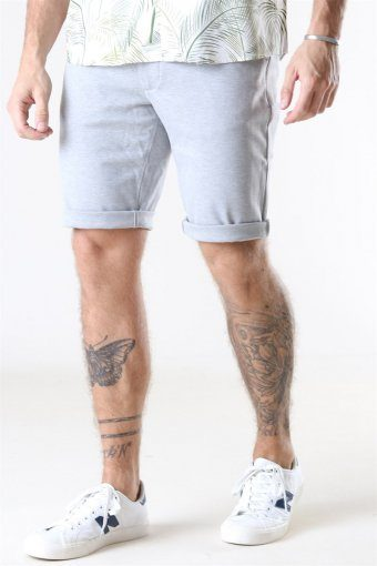 Ponte Shorts Light Grey Melange
