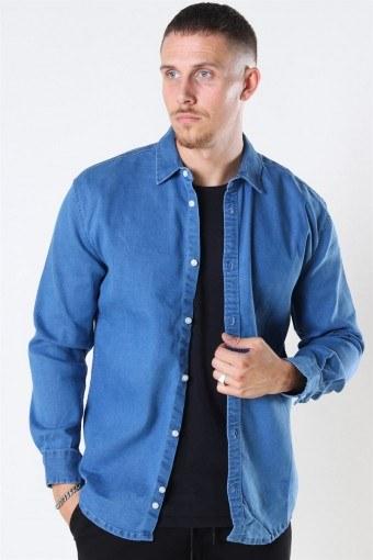 Lenny Denim Skjorta Light Blue