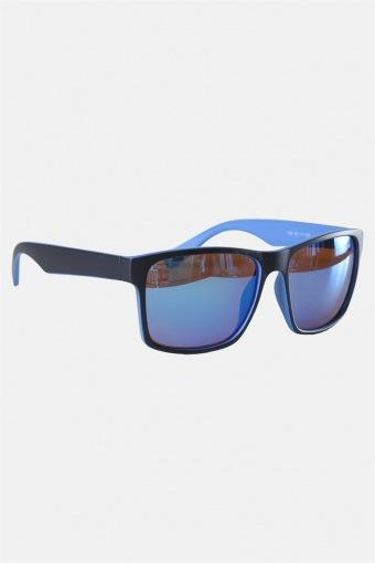 Fashion 1391 Mat Black/Blue Solgasögon Brown Lens/Blue Mirror