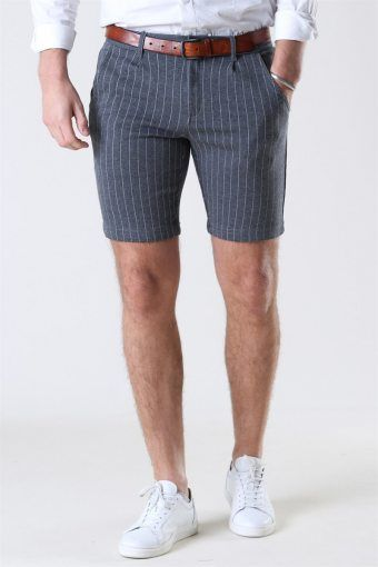 Giles Stripe Shorts Grey