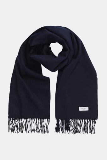 Solid Wool Scarf Dark Navy