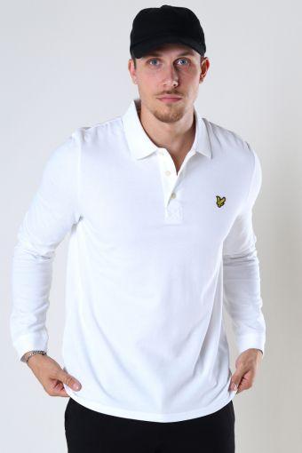 LS Polo Shirt White