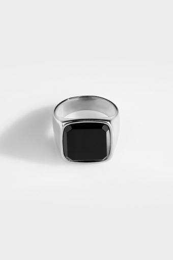Oversize Black Onyx Silver