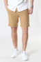 Solid SDTruc Shorts Linen Dull Gold